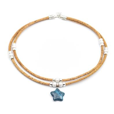 Angelco Accessories Natural stone necklace - blue star