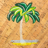 Angelco Accessories Round Cork Handbag with Palm Tree