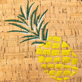 Angelco Accessories Round Cork Handbag with Pineapple