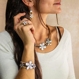 Angelco Accessories Triple flower cork necklace