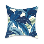 Aloha Palm in Indigo - 2 x Lumbar only!