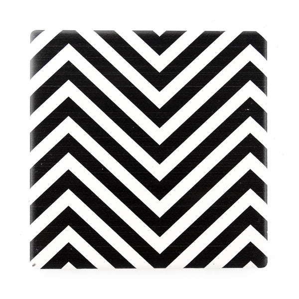 B & W Chevrons – Set of Four