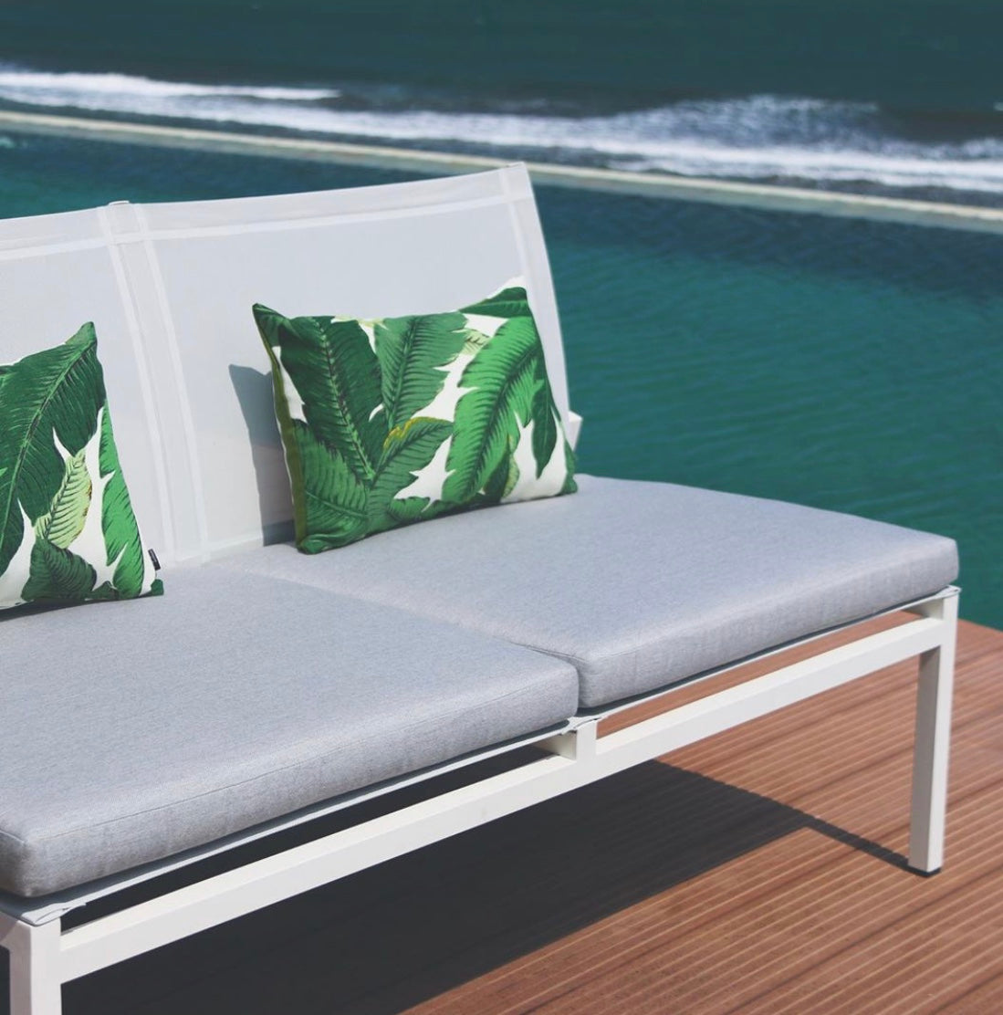 Aloha Palm Lumbar Duo in Evergreen, 2 Pack Includes Inserts