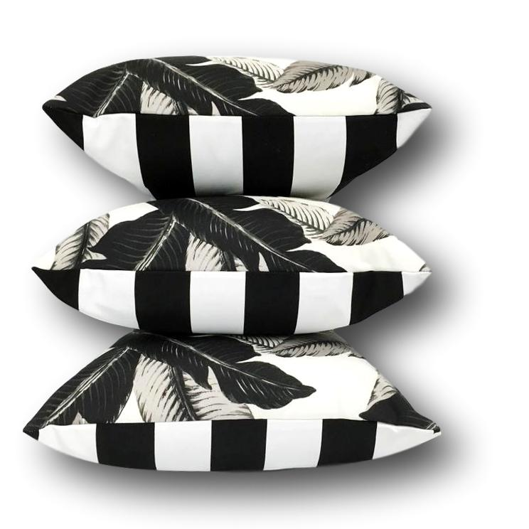 Aloha Palm Trio in Night, 3 Pack, Includes Inserts - Available through Outdoor Elegance Only.