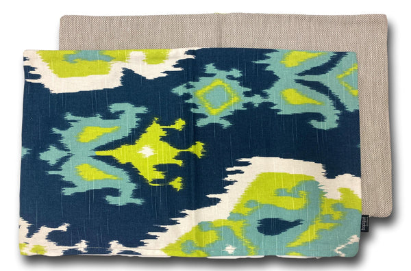 Pattern Navy & Green 50cm x 30cm
