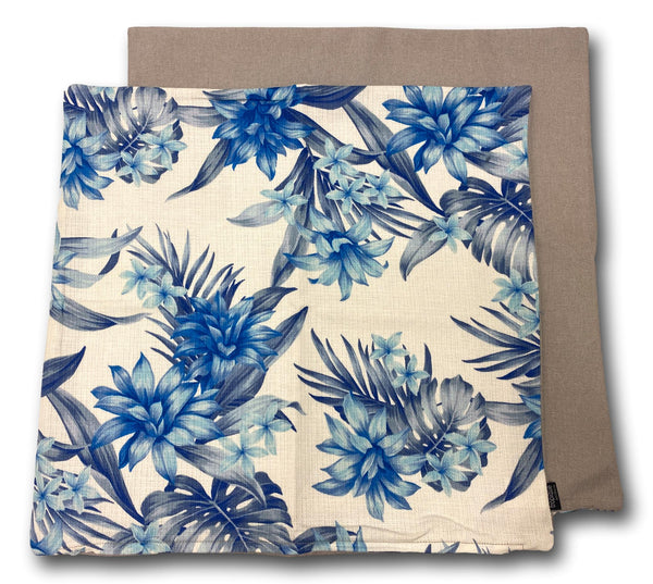 Flower Blue & White 50cm x 50cm