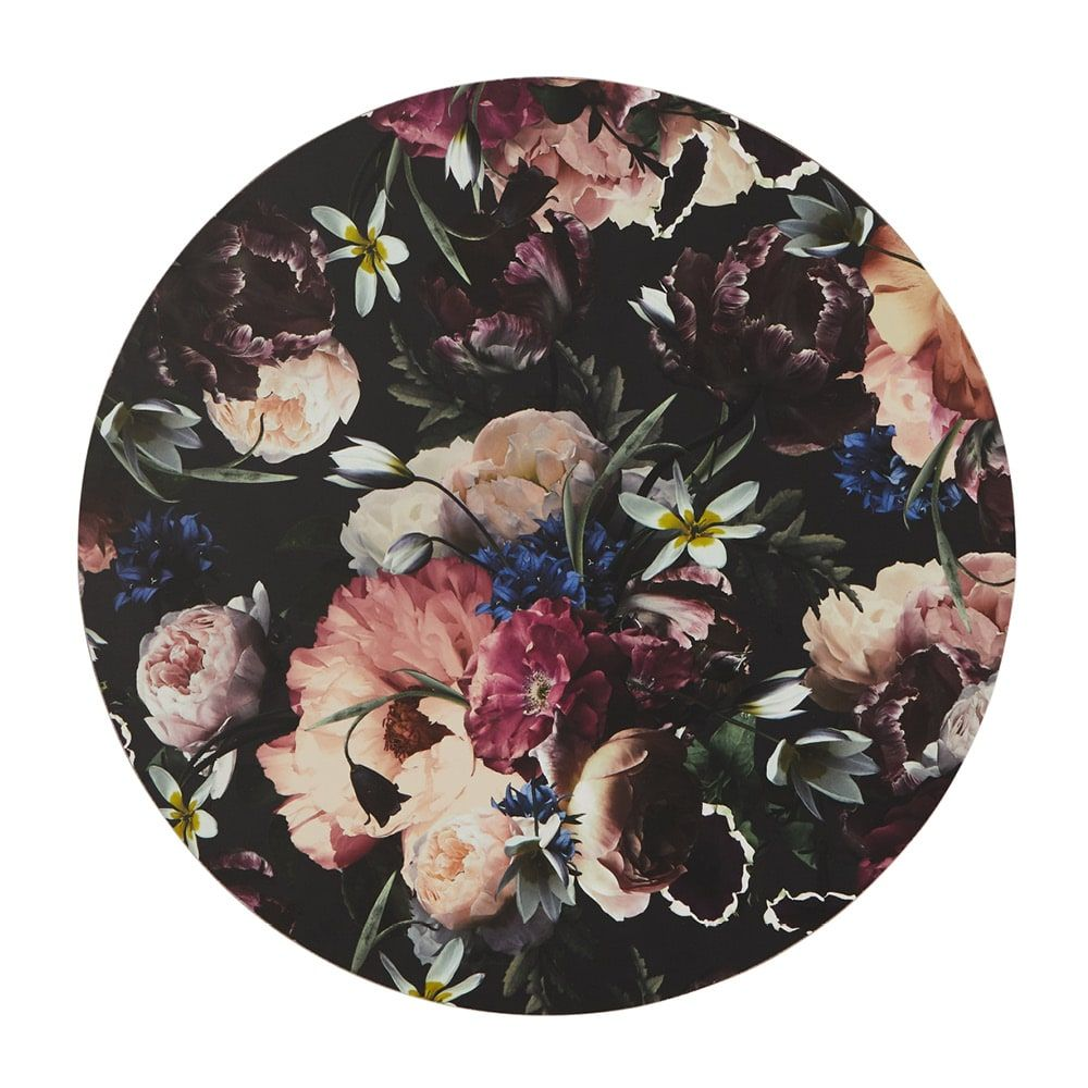 Blueberry Floral Placemat – Set of Four