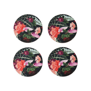 Summer Garden Coasters – Set of Four