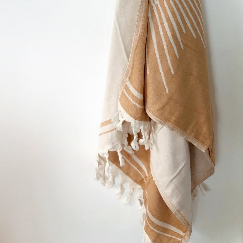 Salty Shadows Turkish Towel Mustard