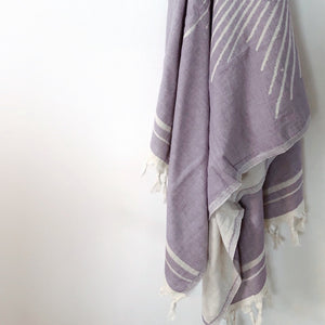 Salty Shadows Turkish Towel Purple