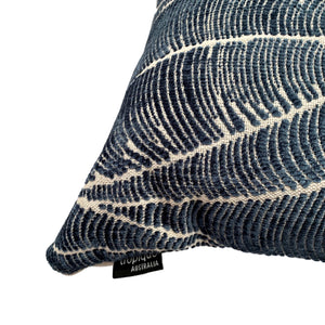 Palm Leaf in Denim