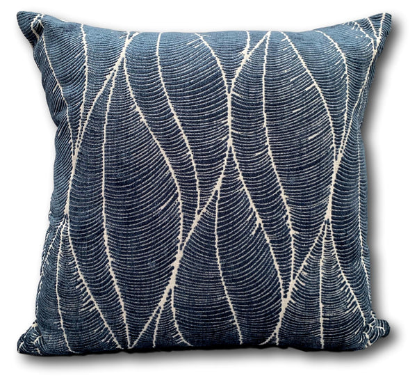 Palm Leaf in Denim - 1 Left!