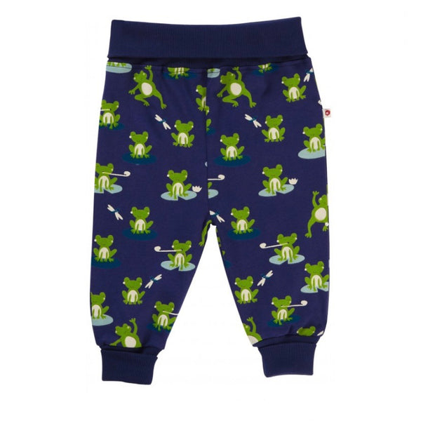 Piccalilly 'Navy Frog' Pull-Up Trousers