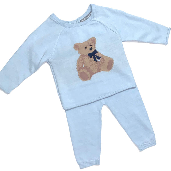 Baby Boy Teddy 2 Piece Set