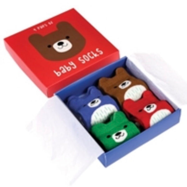Bruno Bear Baby Socks Gift Set