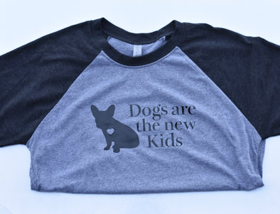 Dogs Are The New Kids Baseball Tee
