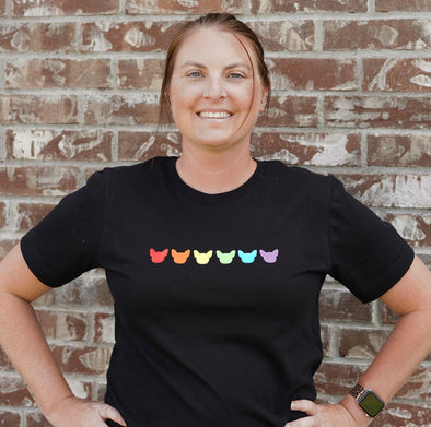 Rainbow Frenchie Head 🌈 - Adult Shirt
