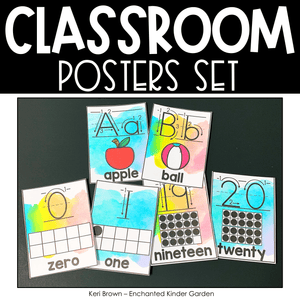 Classroom Decor - Alphabet Line, Number Line, Rules, Shapes, Colors and Quotes