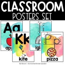 Load image into Gallery viewer, Classroom Decor - Alphabet Line, Number Line, Rules, Shapes, Colors and Quotes