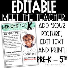 Load image into Gallery viewer, Meet the Teacher Editable Printable