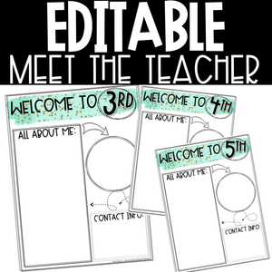 Meet the Teacher Editable Printable