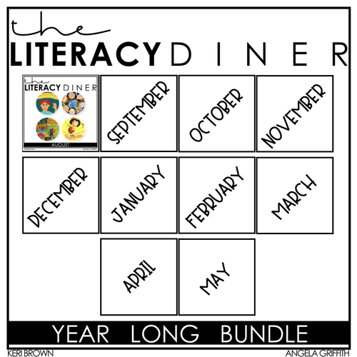 Kindergarten Interactive Read Aloud: Yearlong Growing Bundle The Literacy Diner