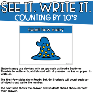 Counting by 10's to 100 - See it Write it - Counting Stars