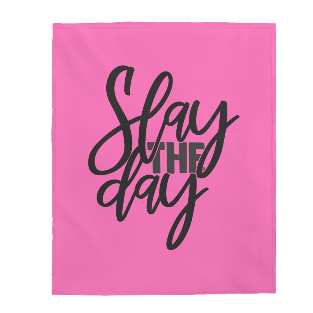 Slay The Day Plush Blanket