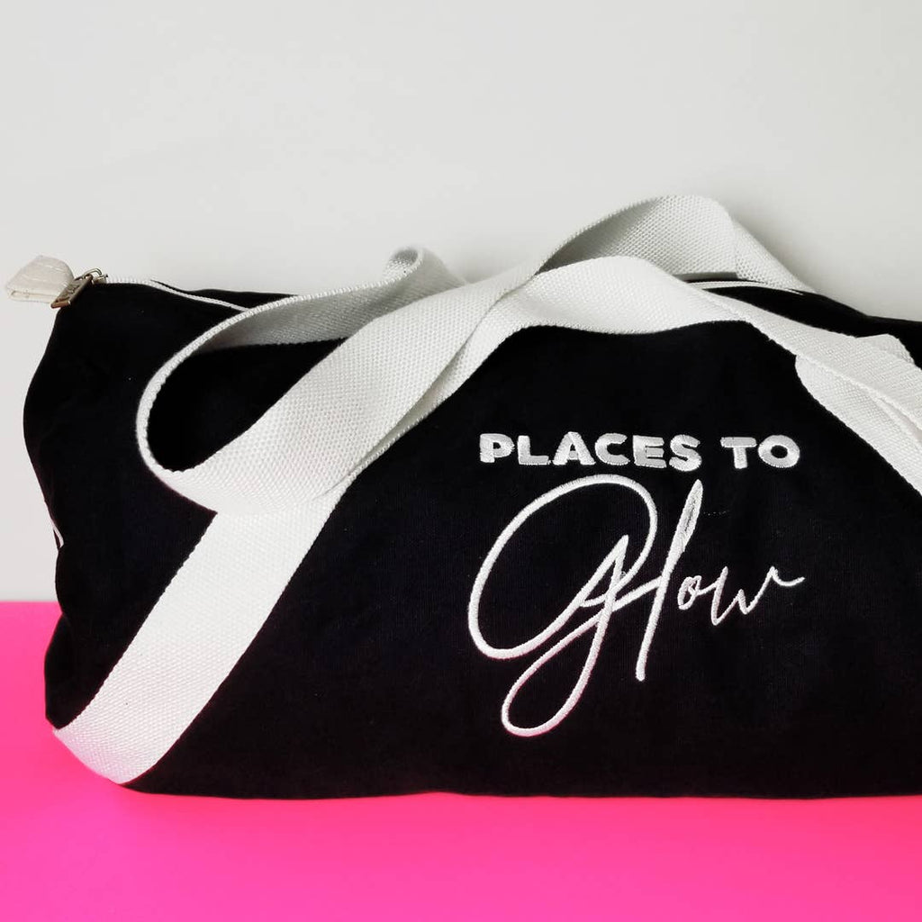 Gotta Glow Black Duffle Bag