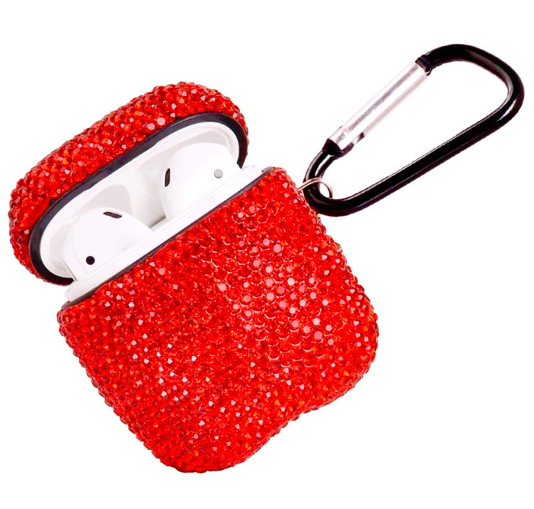 Red Bling Rhinestone AirPod Case