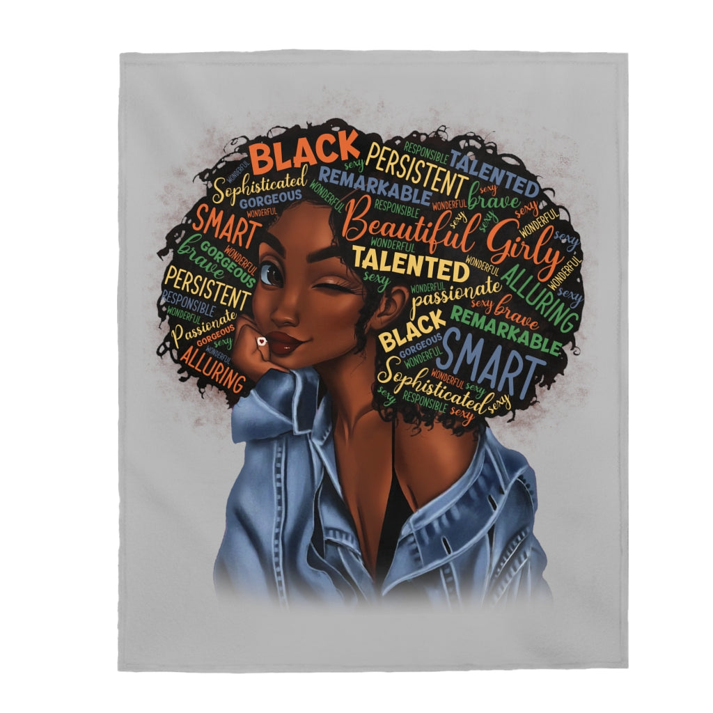 Black Excellence Plush Blanket
