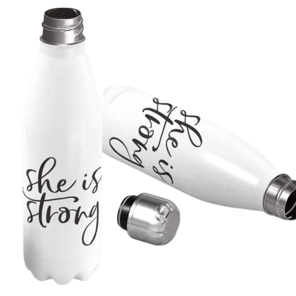She Is Strong Stainless Bottle