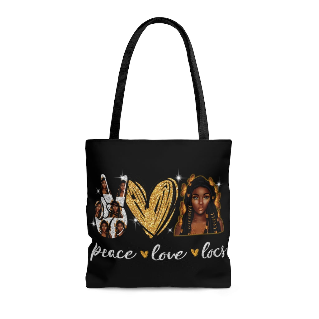 Peace Love Locs Tote Bag