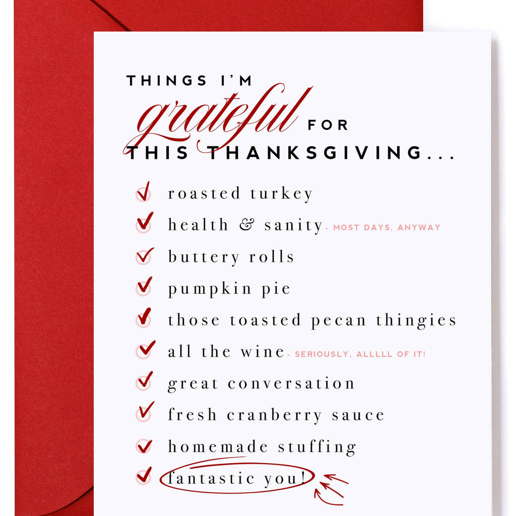 Things I'm Grateful For Card