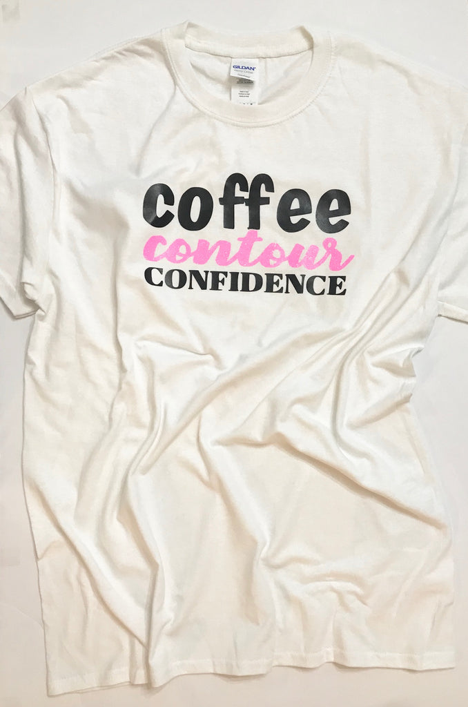 Coffee Contour Confidence T-shirt - White