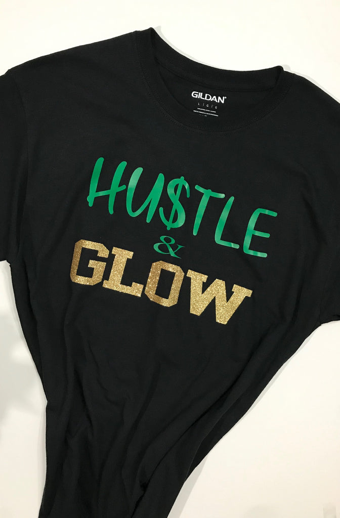 Hustle & Glow T-Shirt -Black