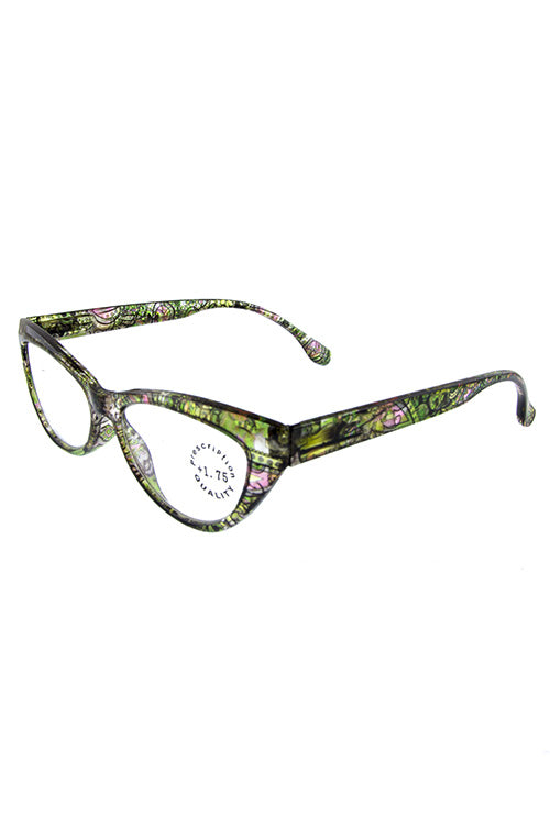 Whimsical Reading Glasses - Green