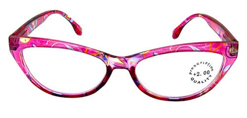Whimsical Reading Glasses - Pink