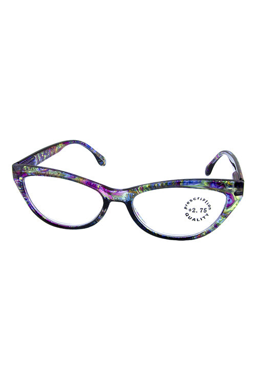 Whimsical Reading Glasses - Purple