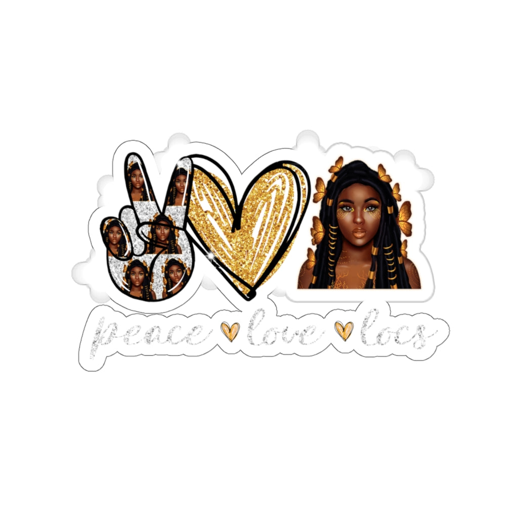 Peace Love Locs Sticker