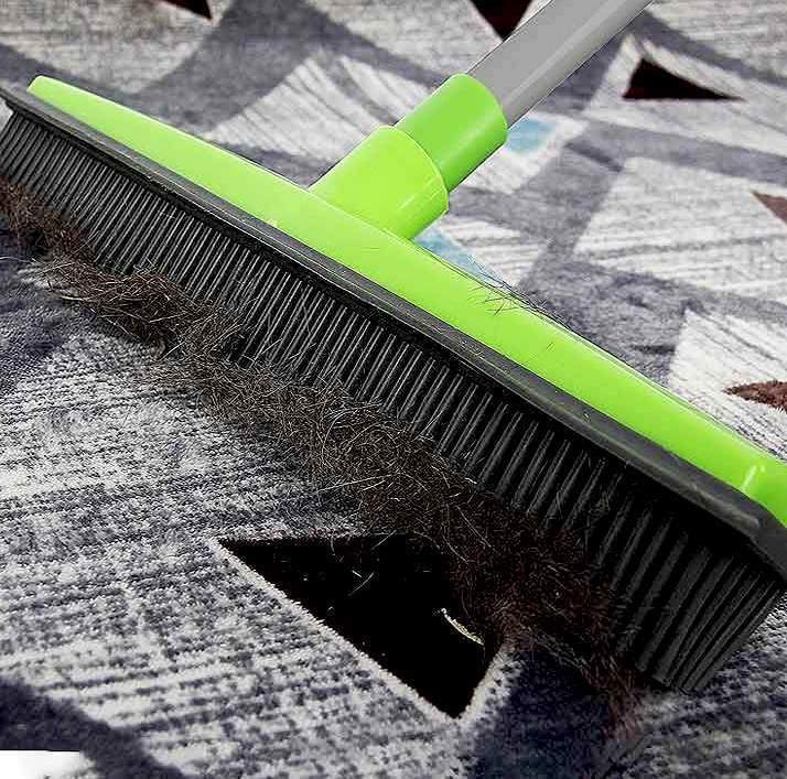 MagicBroom™ - Adjustable Rubber Bristled Broom For Pet Hair Removal - DealDeploy