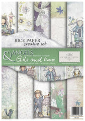 Angels and Girls and Boys - Creative Rice Paper Set ,   Papers , Stencils and Foils, all co-ordinated