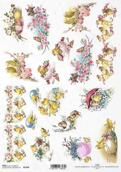 Easter Edit-  5 Beautiful Rice Papers chosen by Decoupage.ie