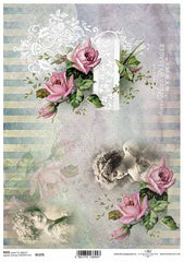 Vintage Edit-  5 Beautiful Rice Papers chosen by Decoupage.ie