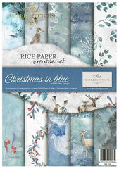 Christmas in Blue Creative Rice Paper Set