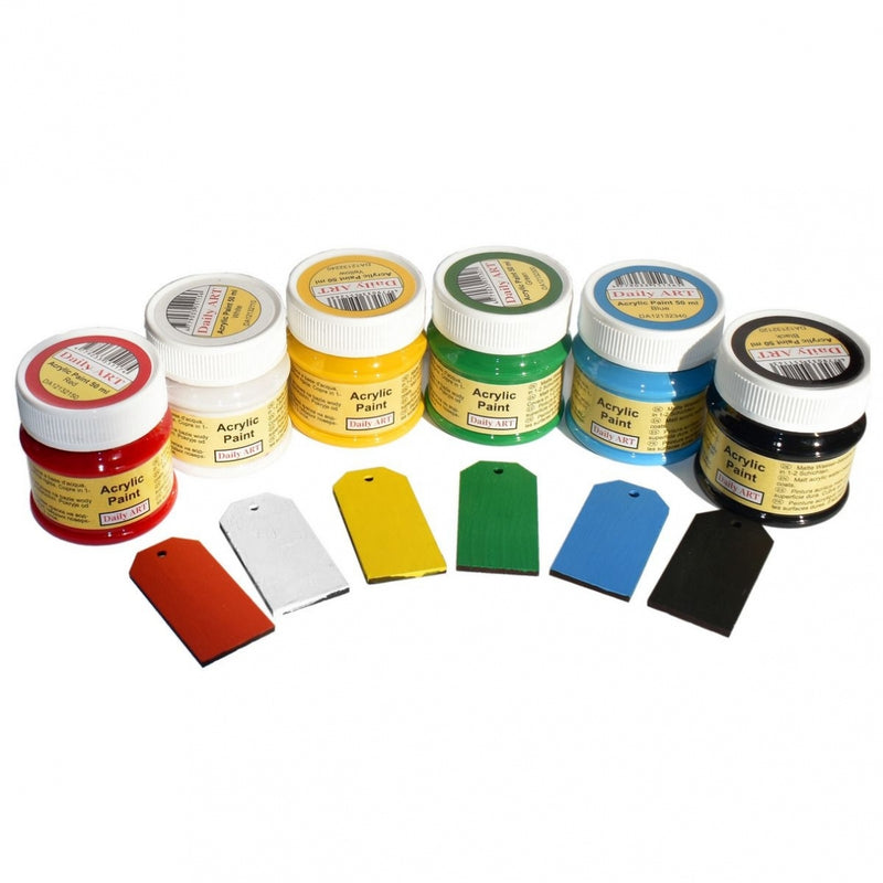 Acrylic Paint Set Basic Colors 6 x 50 ml