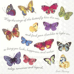 Butterflies Edit - 10 napkins