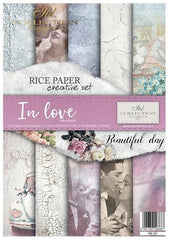In Love - Creative Rice Paper Set ,   Papers , Stencils and Foils, all co-ordinated