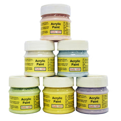 Acrylic Paint Set Pastel Colors 6 x 50 ml