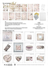 Rosy Summertime - Creative Rice Paper Set ,   Papers , Stencils and Foils, all co-ordinated